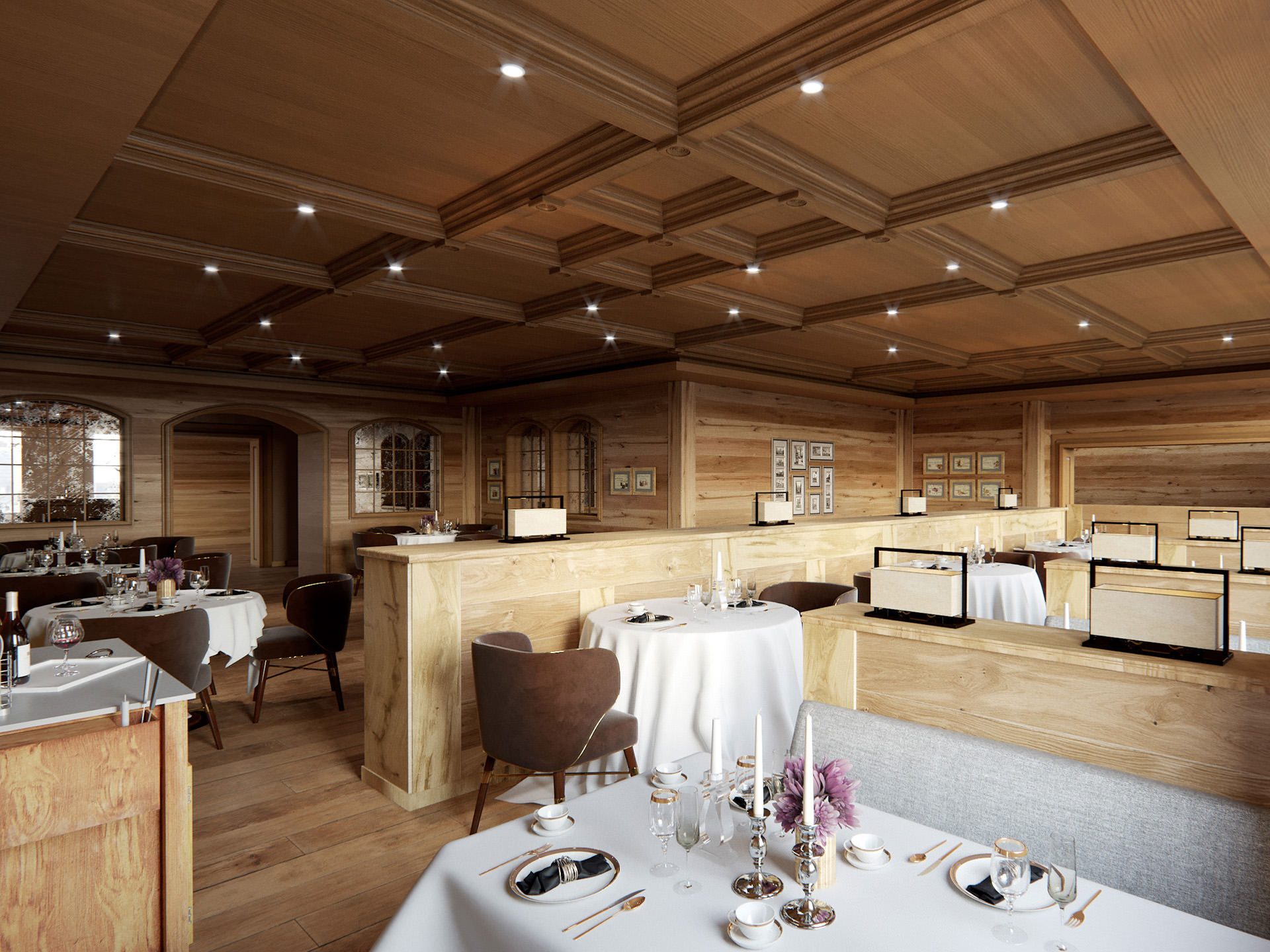 3D-interior-visualization-Mont-Cervin-restaurant-wood