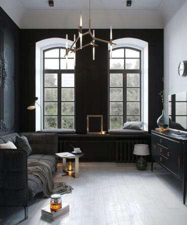 3D Rendering of Studio Apartment in Stalinka Building  Interior