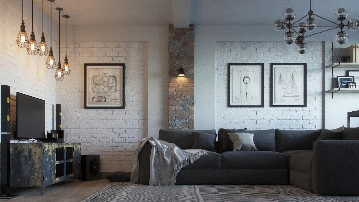 interior-3D-visualization-loft-room-sofa-brick
