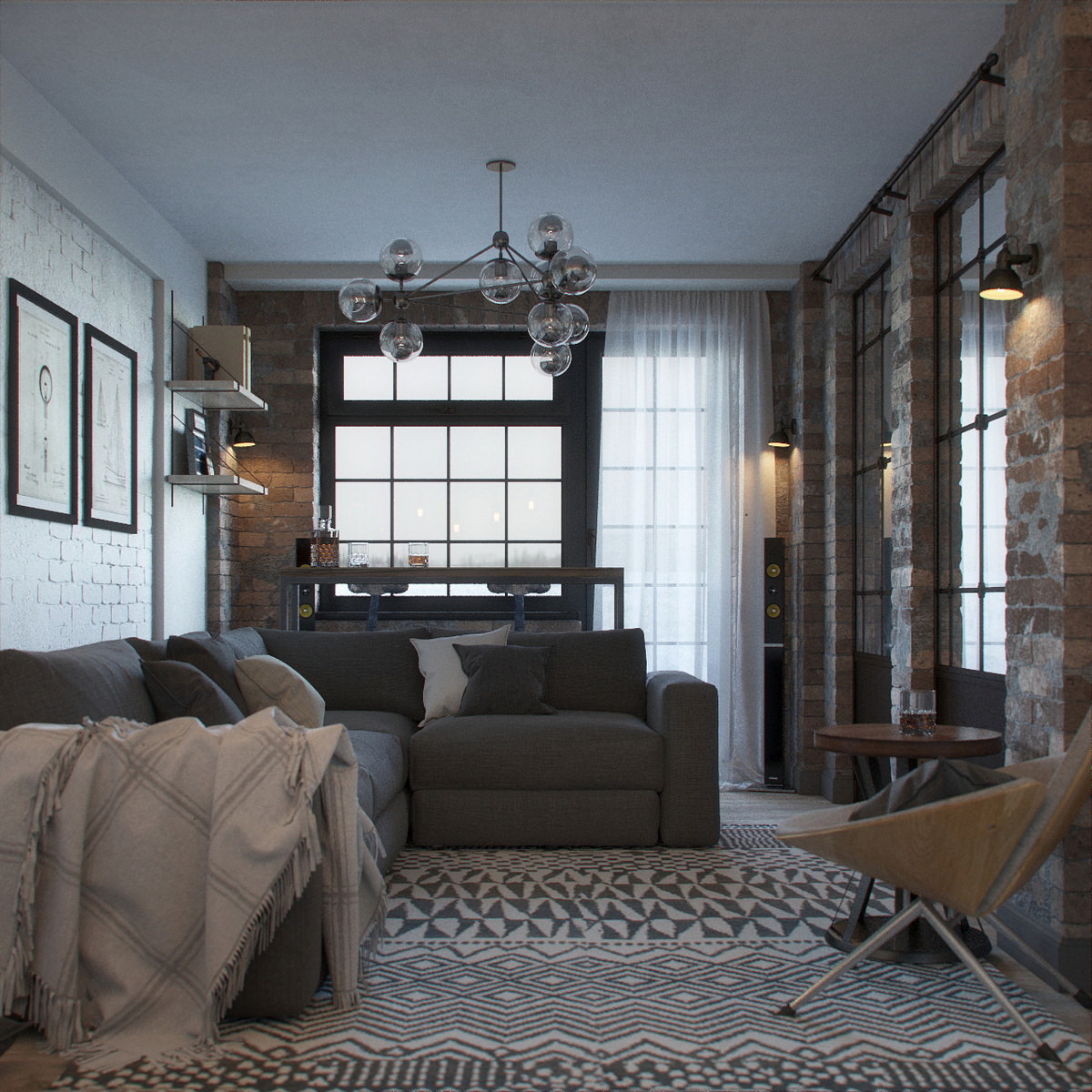 Improve Interior Design Product Sourcing With 3d Home: Visualization Of Loft-Style Interior Design Concept • Lunas