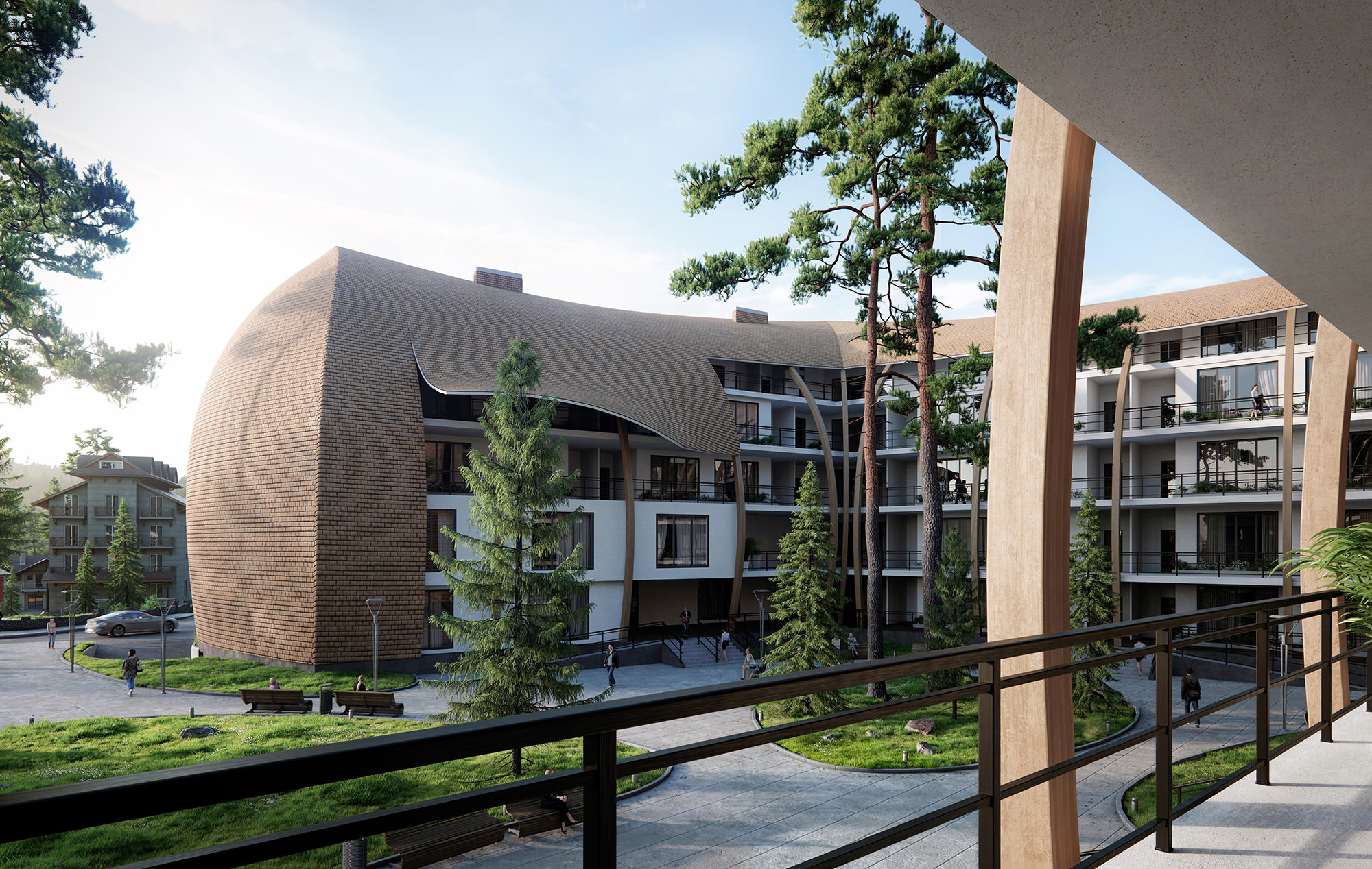 3D-exterior-visualization-residential-complex-Bakuriani-mountains
