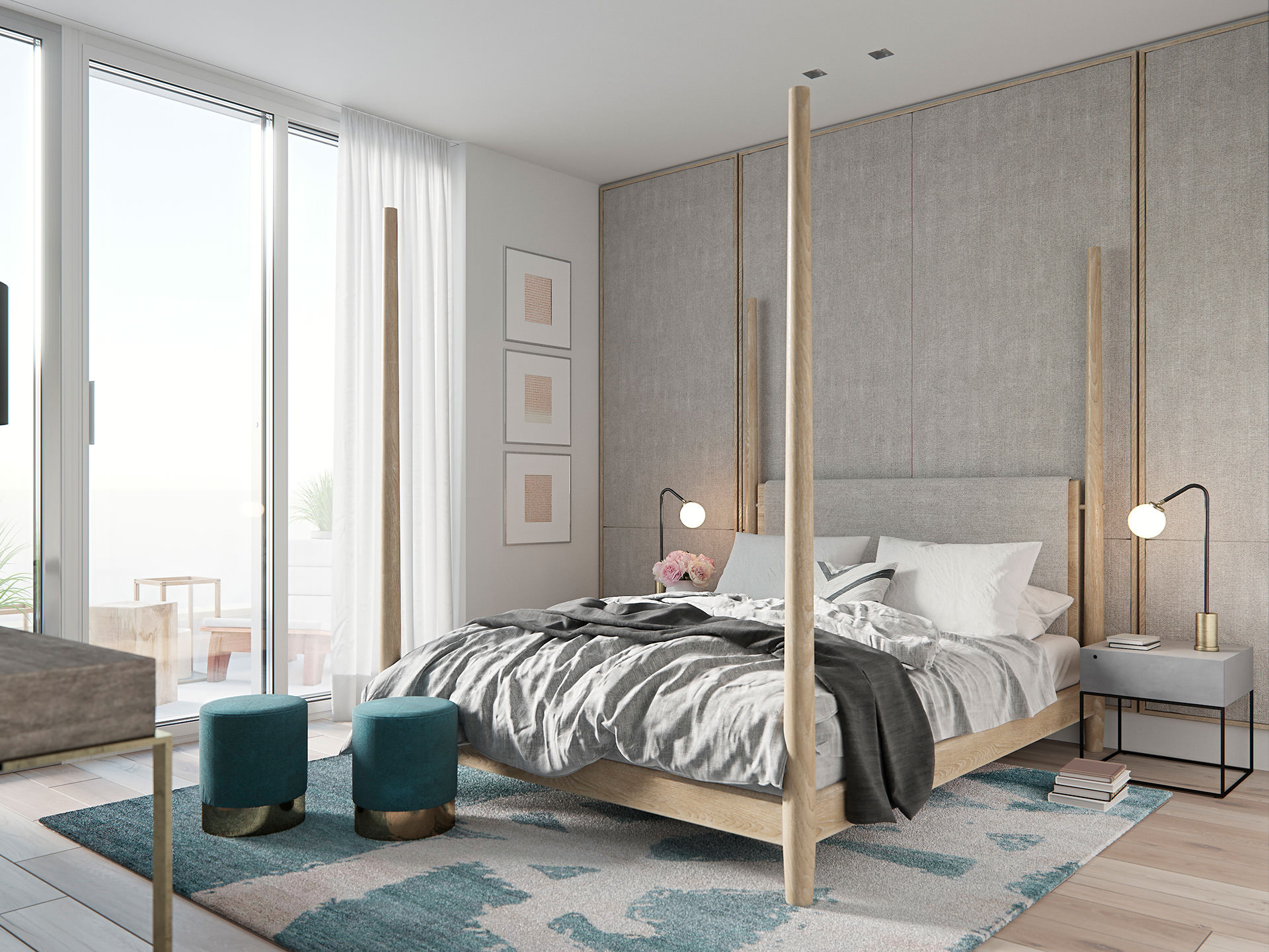 Renders 3d For Master Bedroom Project: 3D Visualization Of Residential House • Lunas