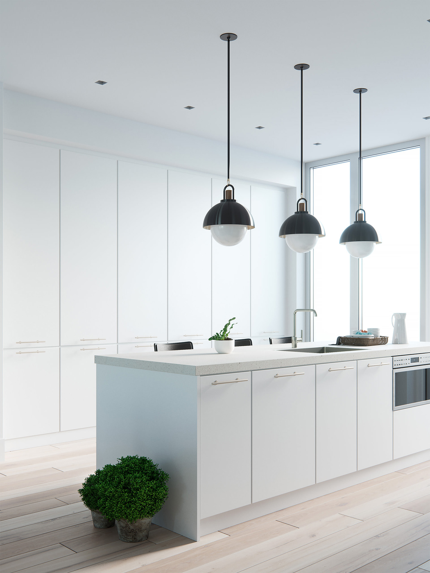 3D-interior-rendering-kitchen-white-table-morning-1