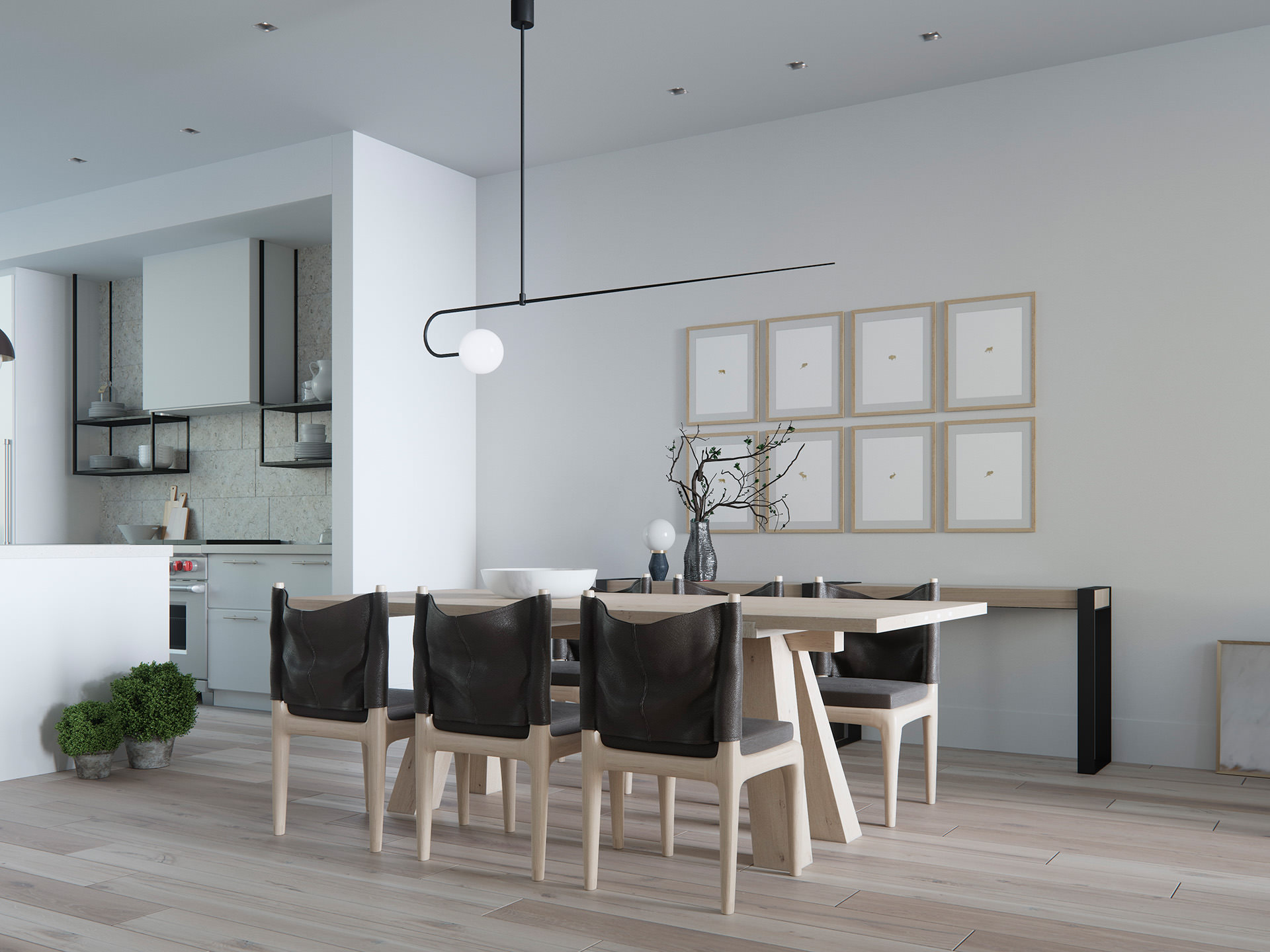 3D-interior-visualization-wood-dining-table-Dining-room
