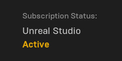 subscription status of unreal studio plugin