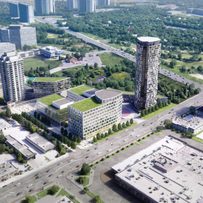 Exterior Visualization of Westin Prince Hotel Complex