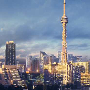 Conceptual 3D Visualization Proposal for CN Tower in Toronto