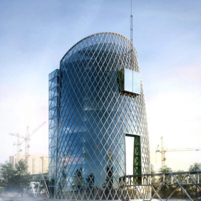 Conceptual Architectural Visualization of Business Center