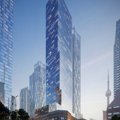 Architectural Rendering of Skyscraper in Toronto, Canada