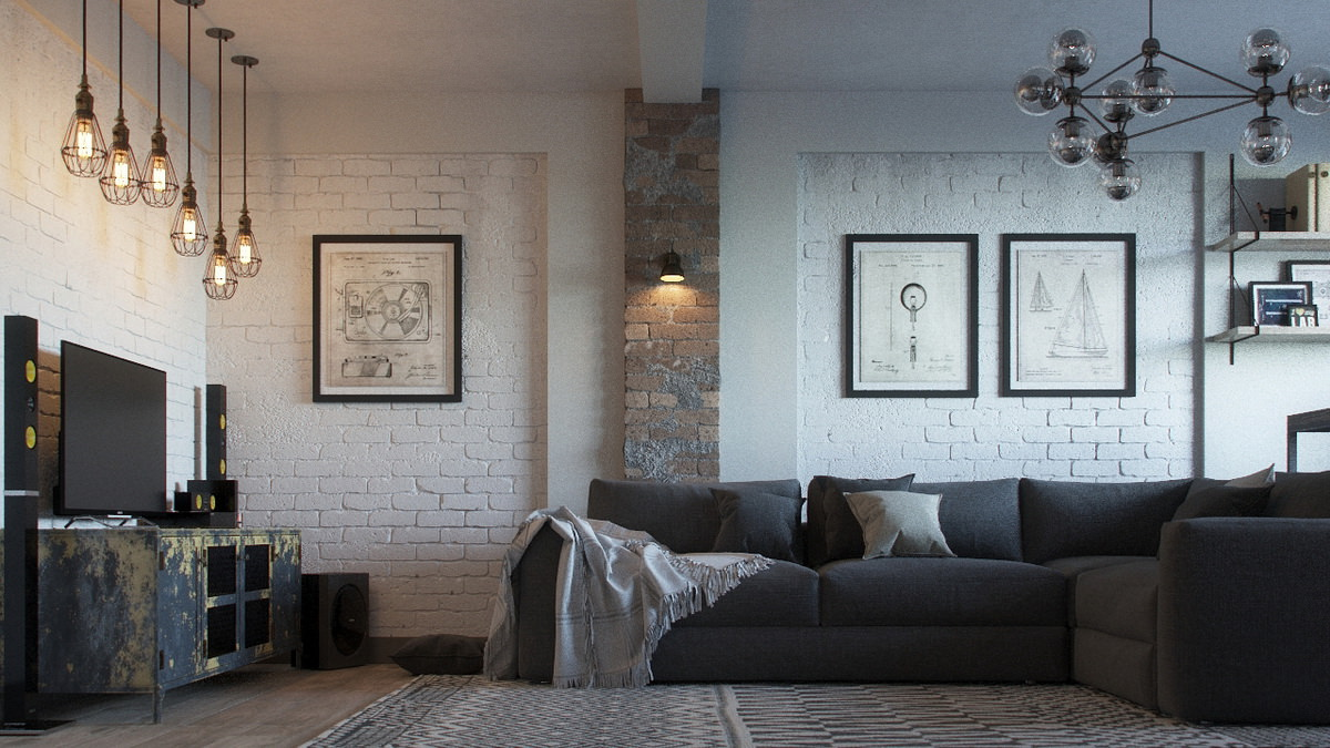 interior-3D-visualization-loft-room-sofa-brick