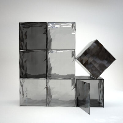 Square Glass Containers Product Visualization
