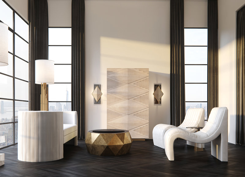 High-end visualization of interior and furniture managed by Katerina in Dubai