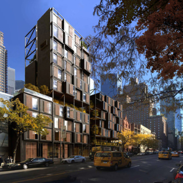 Rendering of Apartment Building in New York City