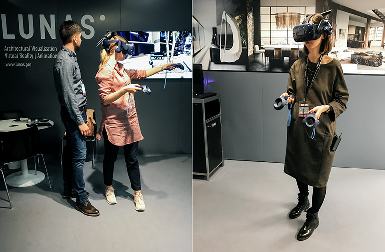 Lunas shows architectural virtual reality tour presentation at MIPIM property show using HTC Vive Pro headset