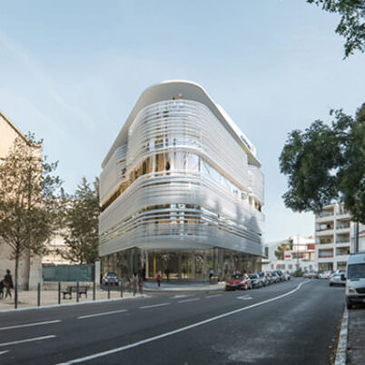 Architectural 3D Rendering of Business Center in Beziers, France