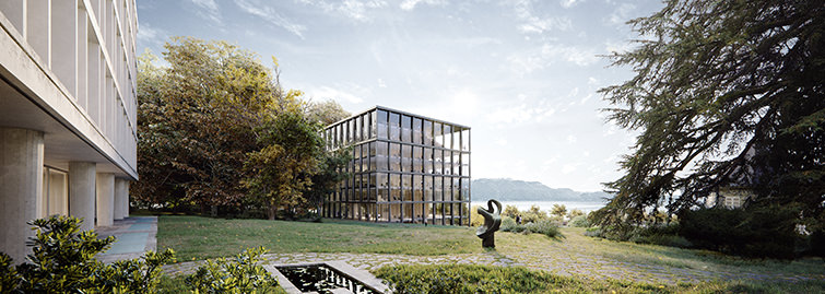 Vaudoise Assurances office building 3D render, Lausanne, Switzerland