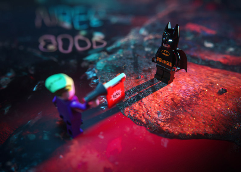 Lunas studio creates Lego toy Batman and Joker 3D rendering and high-end animation video