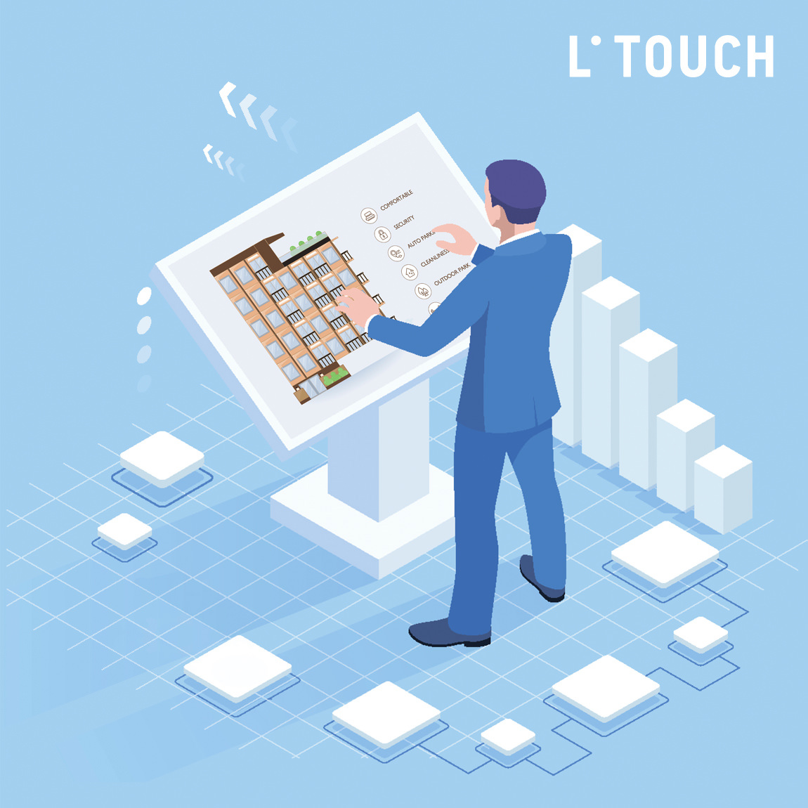 Lunas studio presents real estate software for touchscreen displays and video walls at PropTech Europe 2019