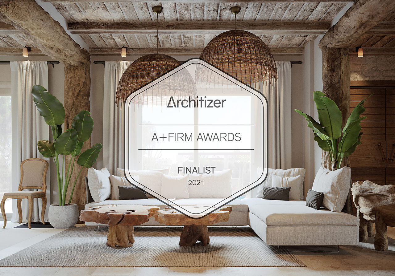 Lunas Visualization Company is Best Rendering Studio Finalist in A+Firm Awards Architizer 2020